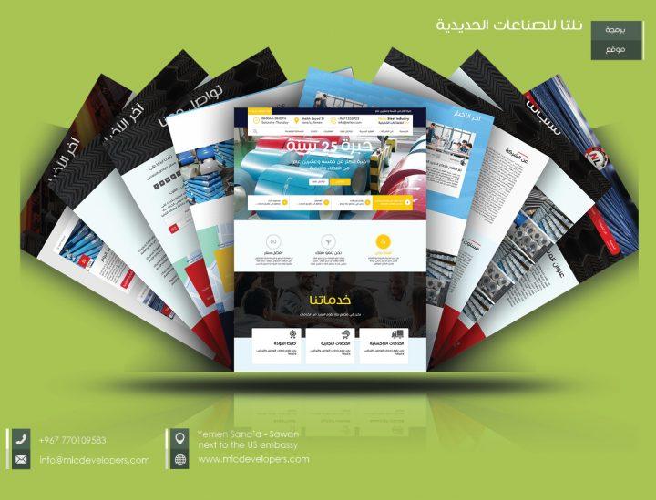تصميم وبرمجة موقع مصنع نلتا للصناعات الحديدية